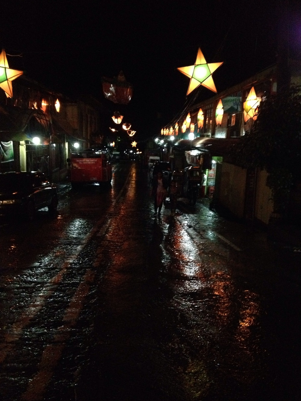 Christmas lanterns adorn the quaint town of Majayjay.