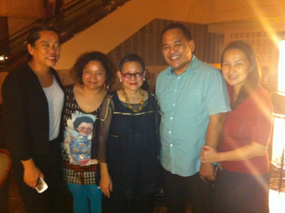 With Film Producer Moira Lang, Nina Tesoro Poblador and the husband and wife founders of  OurAwesomePlanet.com , Anton and Rache Diaz.