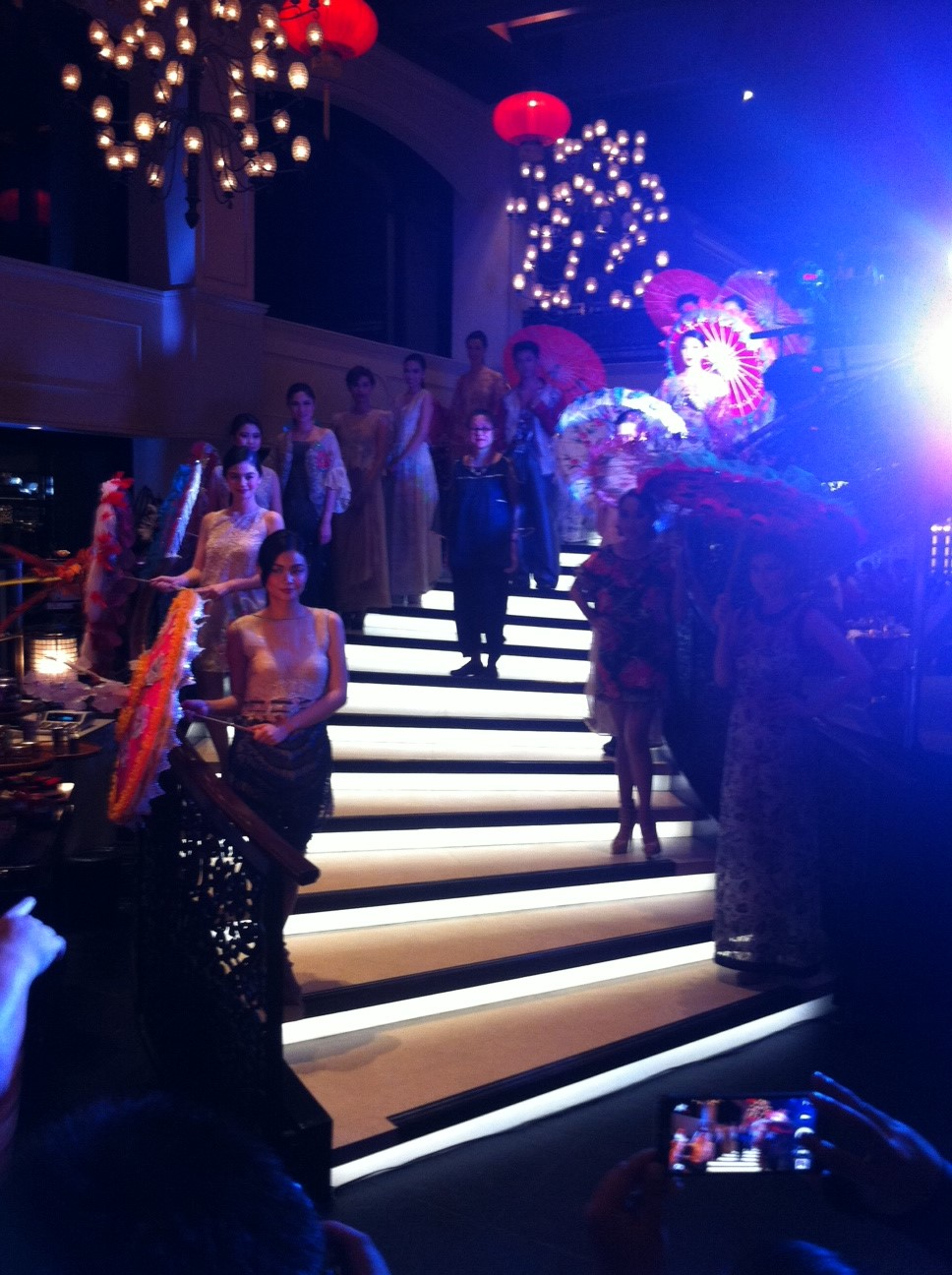 "Inspired by French Chinoiserie design, ""La Collection Rouge"" is Patis Pamintuan Tesoro's fashion collection for Rustan's."