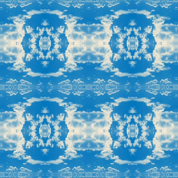 Cloud Rococo Wallpaper Happy Blue