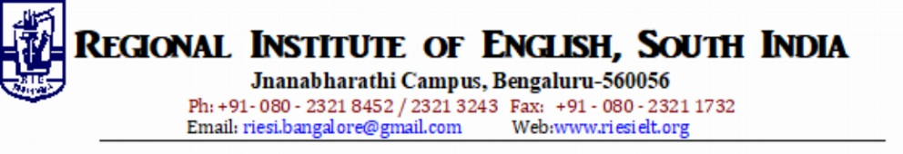 Announcements/Events — Regional Institute of English, South India