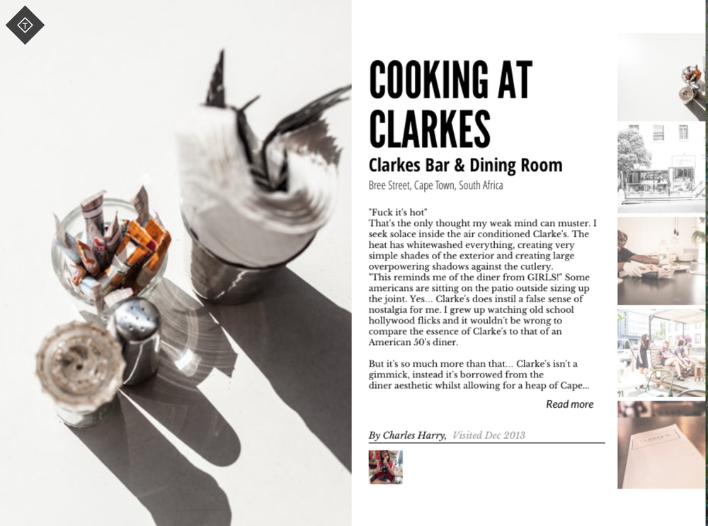 Review: Cooking at Clarkes