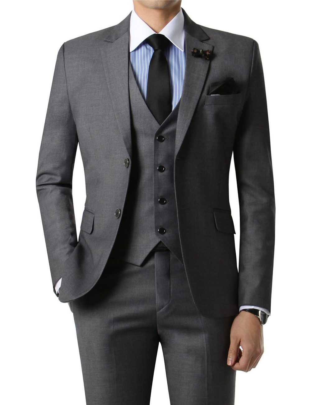 Good tailoring can make any suit look like it was made specifically for you..