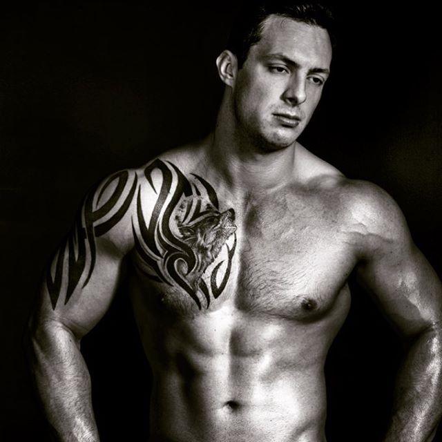 The stunning Michael !  #men #model #gymlife #pecs #abs #shredded #beautiful #tattoo #inkedmuscle #big