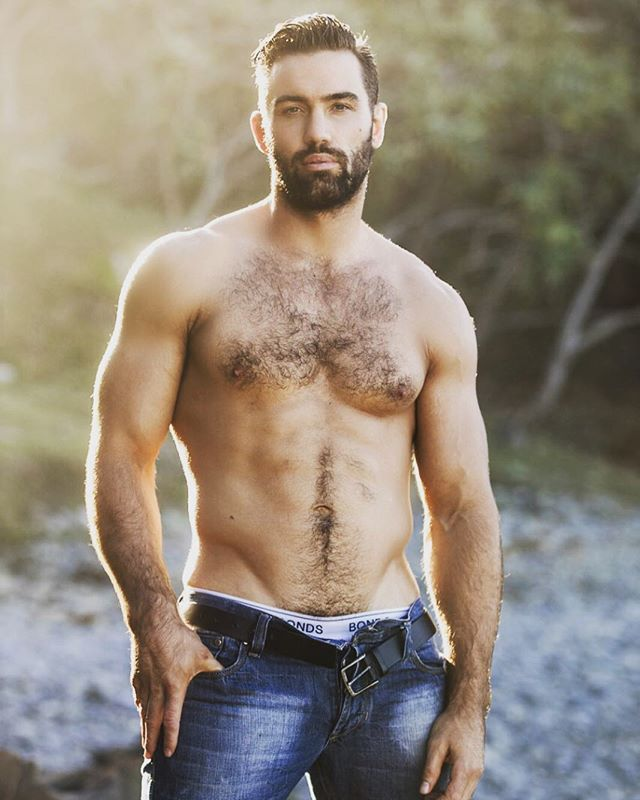 The beautiful Joe shooting in Byron Bay with me yesterday. #model #man #instahunk #beautiful #lumbersexual #beard #hairy #hairychest #hairyabs #abs #fit #hunk #jeans #beach #sand