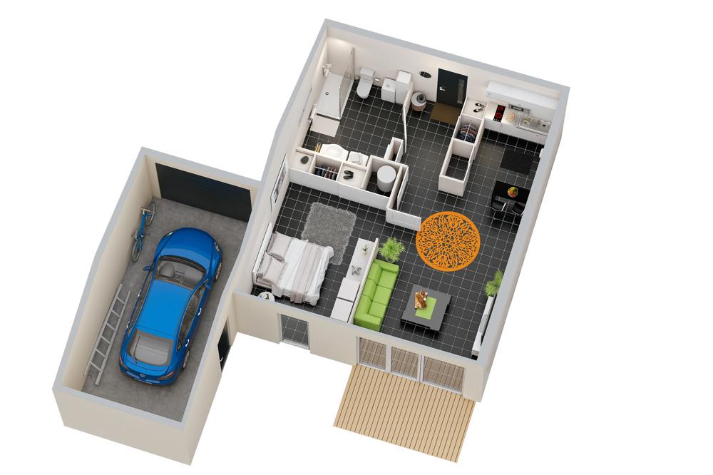 plan maison t 2