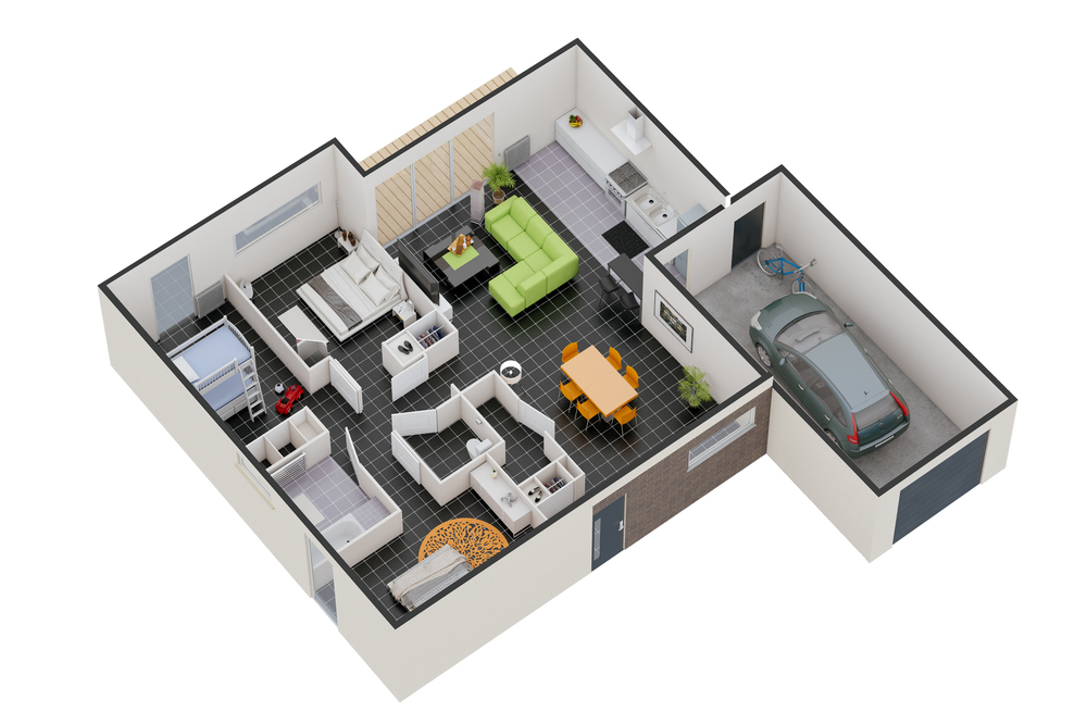 Une maison toulouse for Plan maison interieur 3d