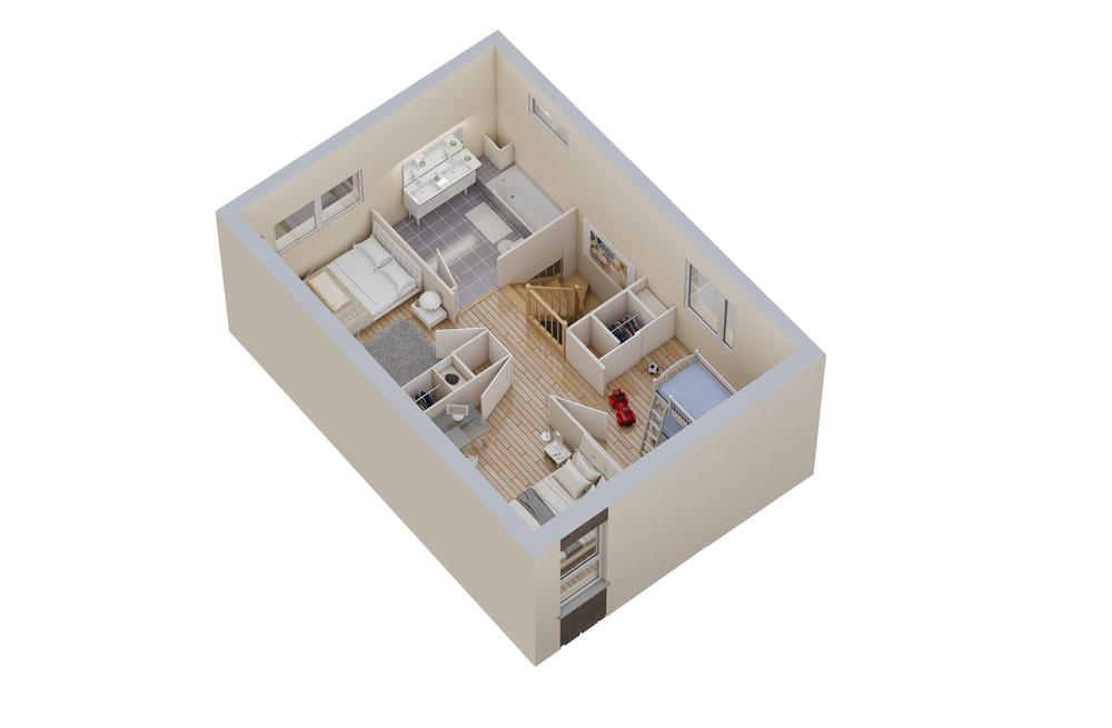 Maison n°10 / étage (T4)