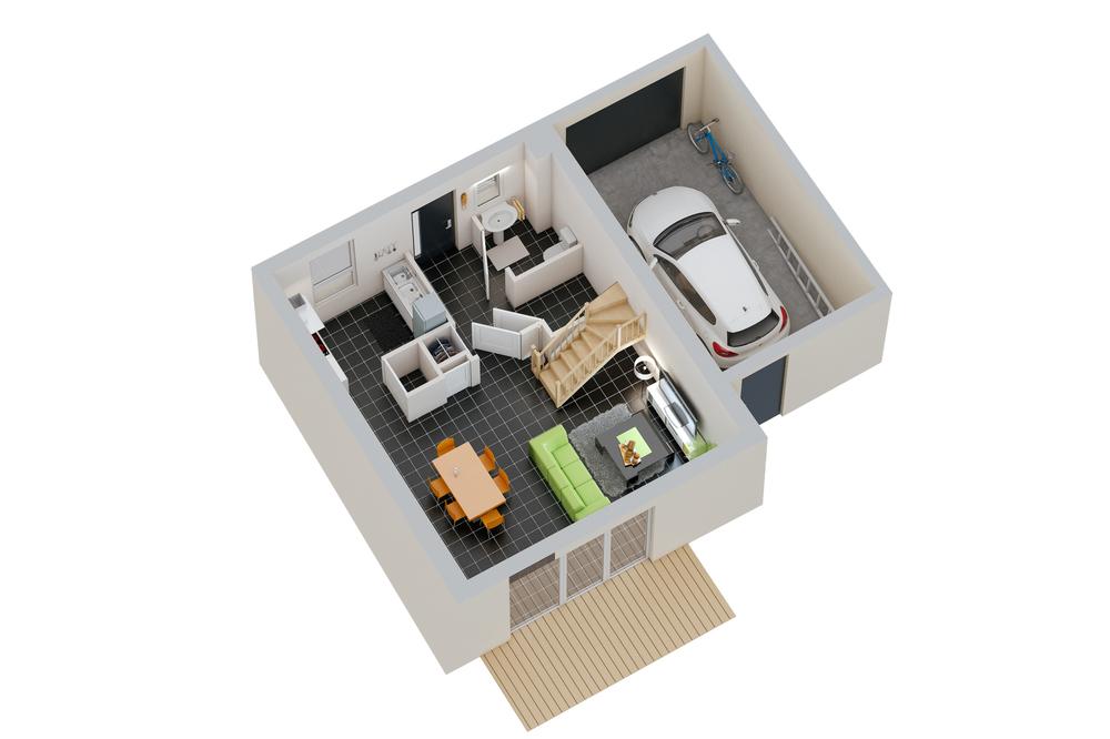 Maison n°10 / rez-de-chaussée (T4)