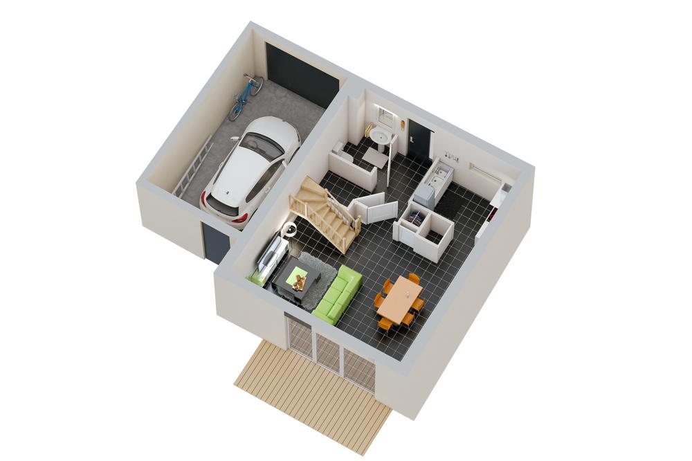 Maison n°11 / rez-de-chaussée (T4)