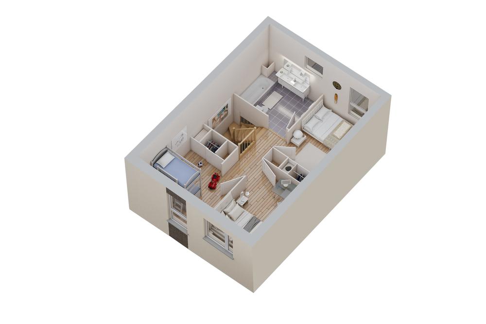 Maison n°11 / étage (T4)