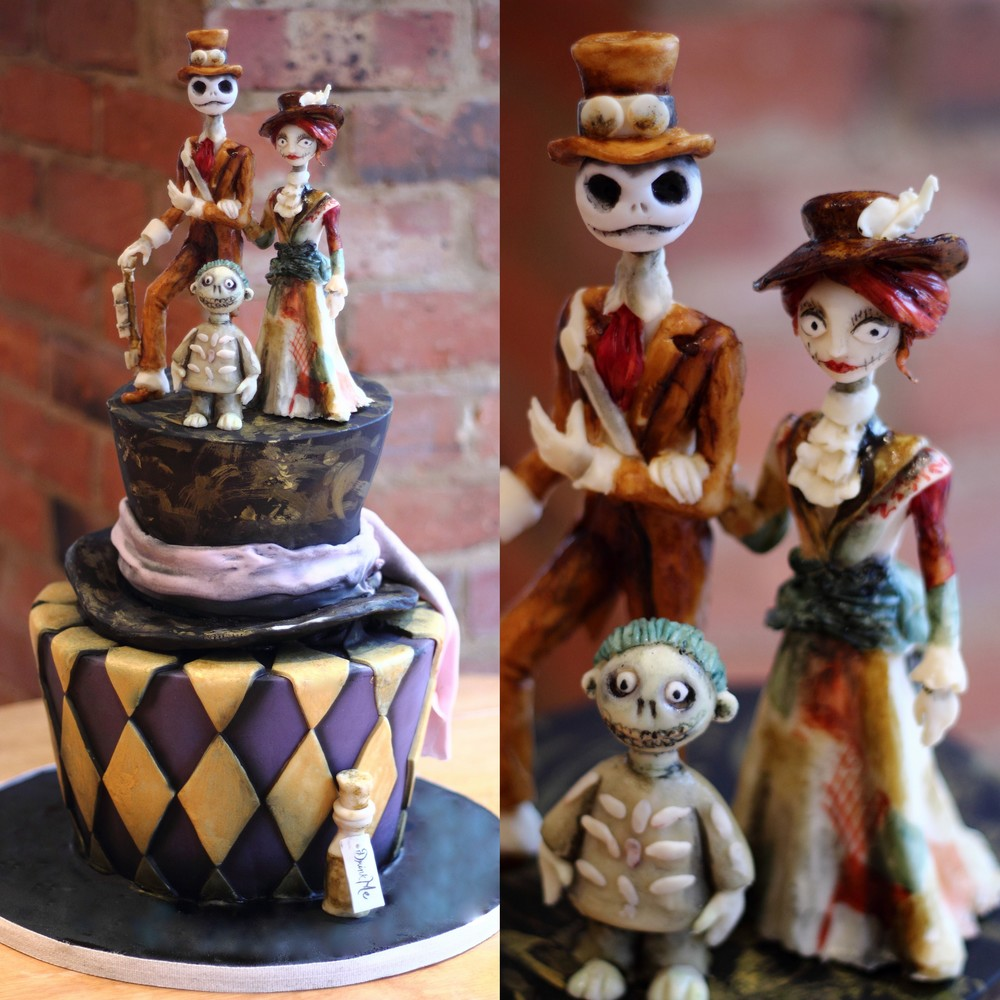 Tim Burton Steampunk Wedding Cake