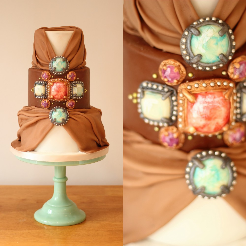 Luxury Gemstone Wedding Cake