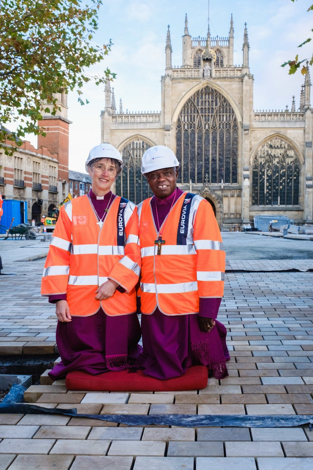 The Archbishop of York and Bishop of Hull came together to make their symbolic contribution to the transformation of Holy Trinity Church.