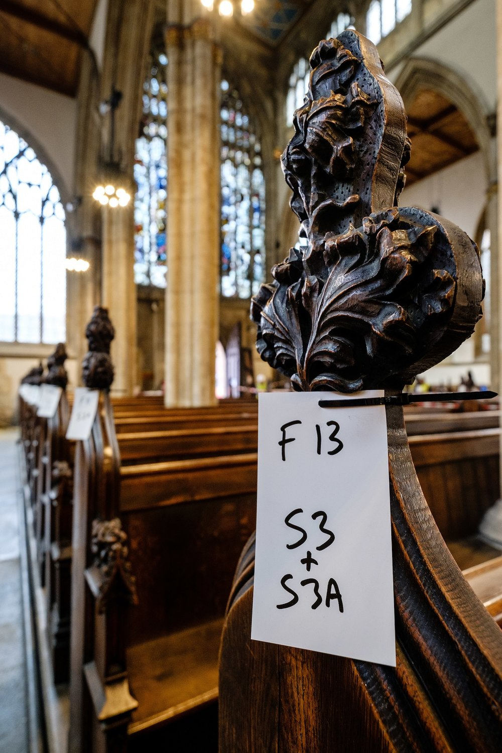 All the pews and decoratively carved pew ends are being carefully logged as part of the process of preserving Holy Trinity Church's Victorian heritage while creating a new, flexible open space in the nave.