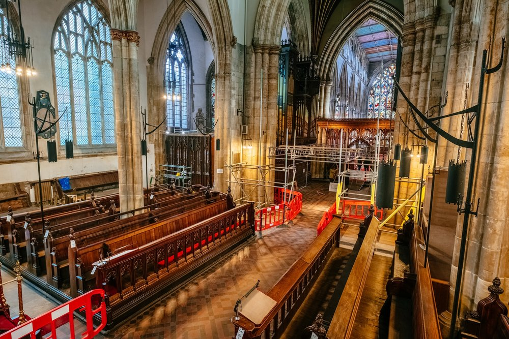 Scaffolding has been erected to enable work to begin on the most significant changes to 700-year-old Holy Trinity Church since Victorian times.