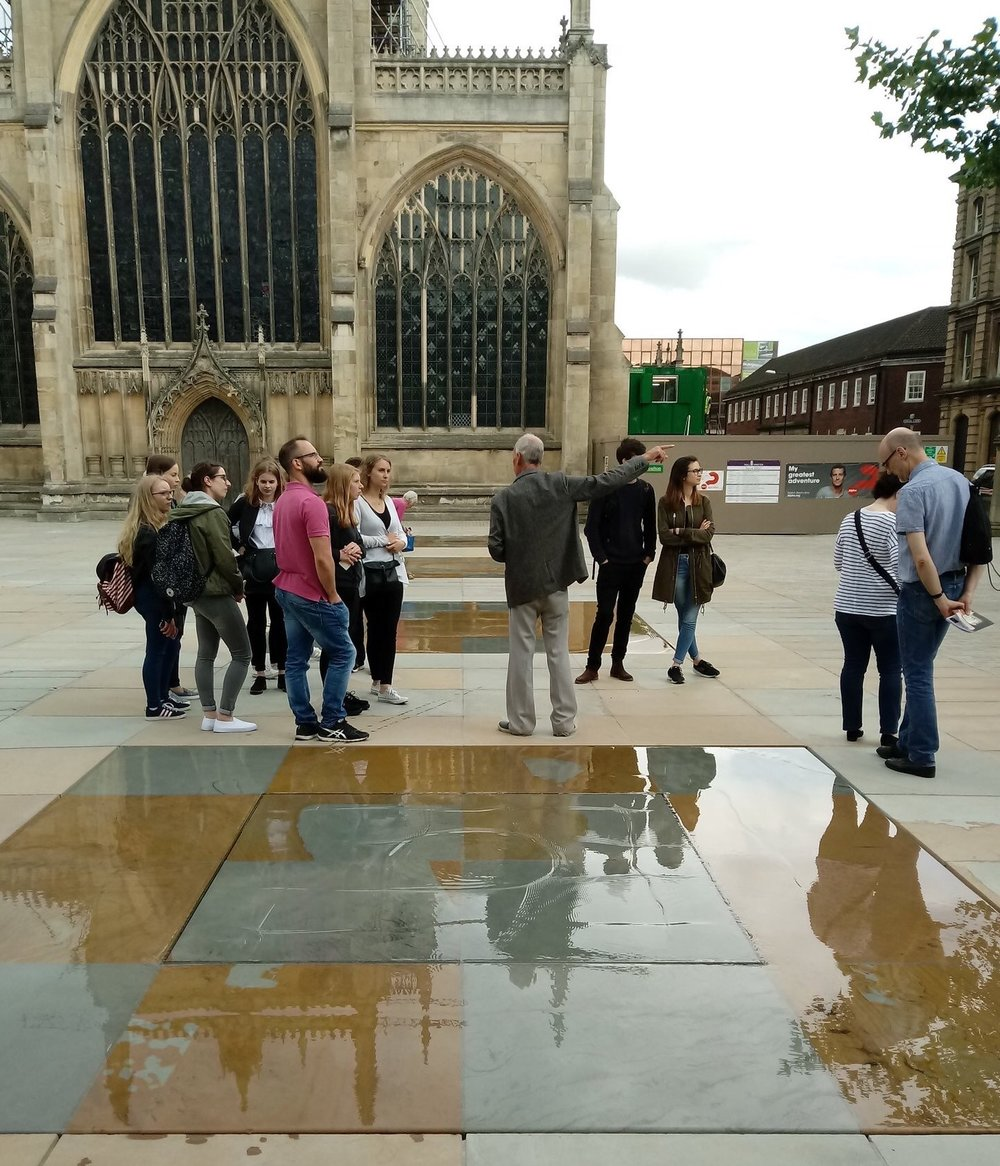 The glazed paving features complete the remarkable transformation of Trinity Square into a beautiful public space.