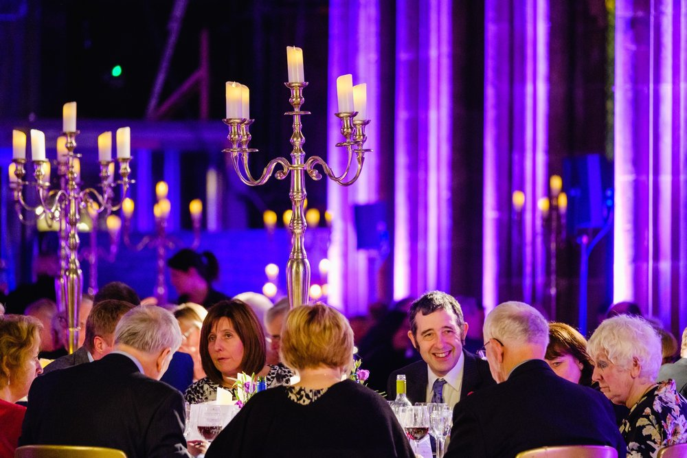 Specially-invited guests enjoyed dinner and entertainment in the magnificent setting of Hull Minster.