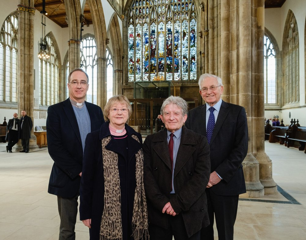 Pictured in Hull Minster's remodelled Nave are, from left, Vicar Neal Barnes, Associate Vicar Irene Wilson, Hull City Council Leader Cllr Steve Brady and Hull Minster Development Trust Chair John Robinson.