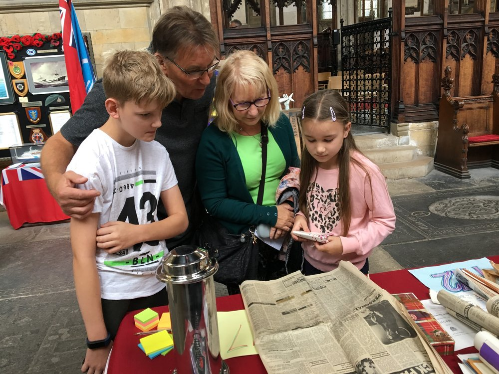 Families enjoy the time capsule at Heritage Open Days