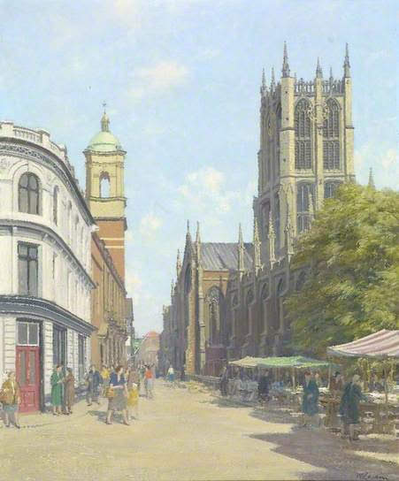 1955 Painting of Hull Minster