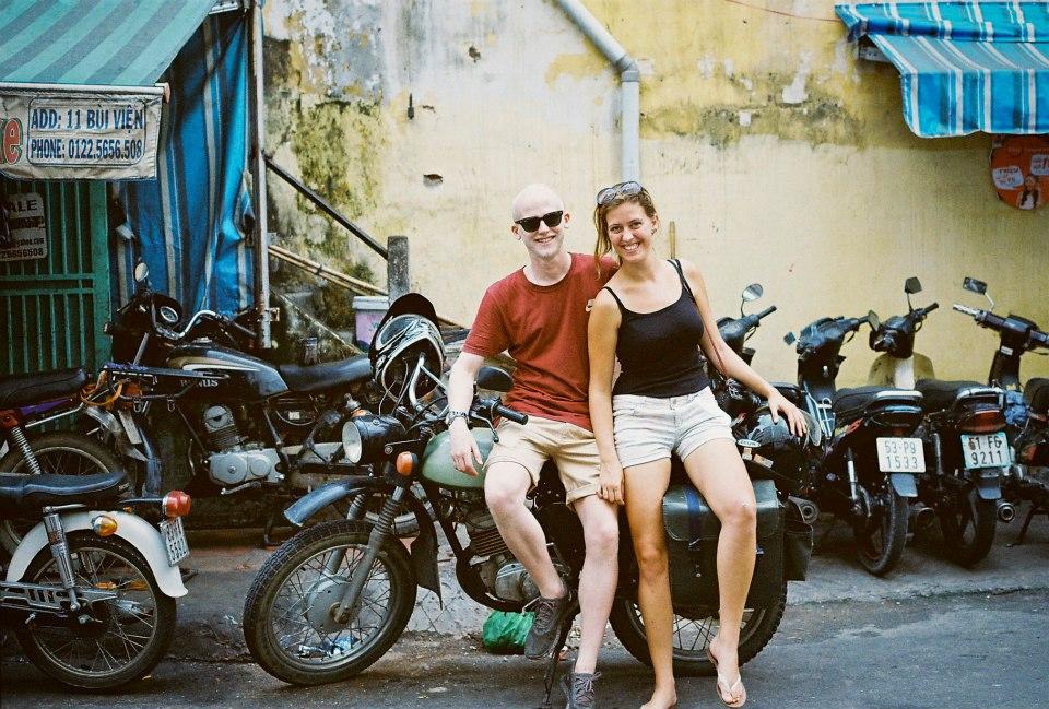 Dan and Mirella in Vietnam.