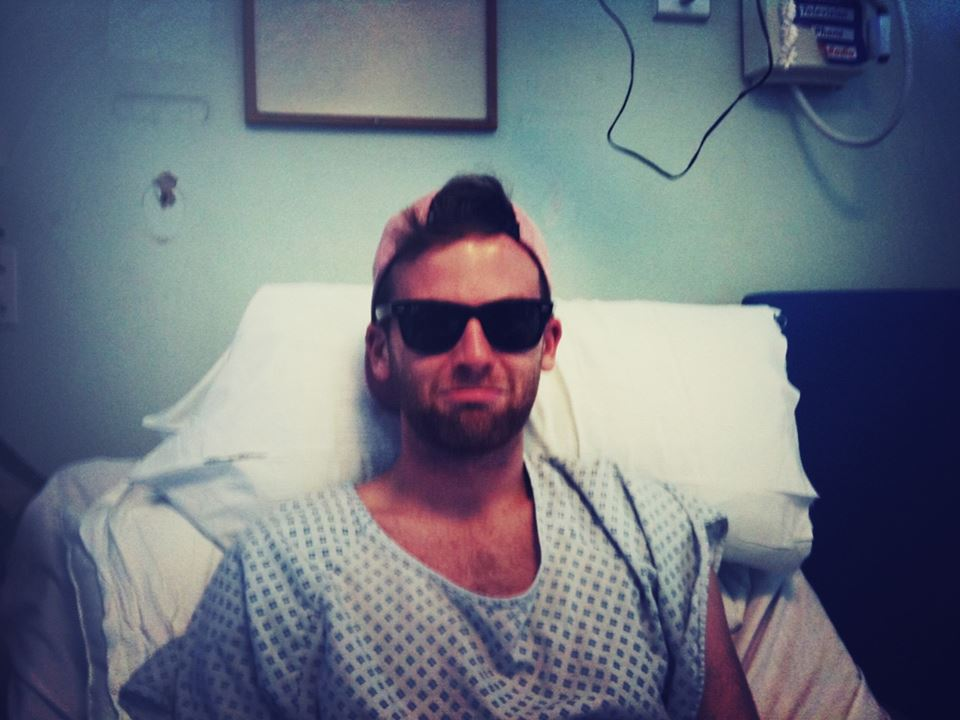 Styling it out in hospital.