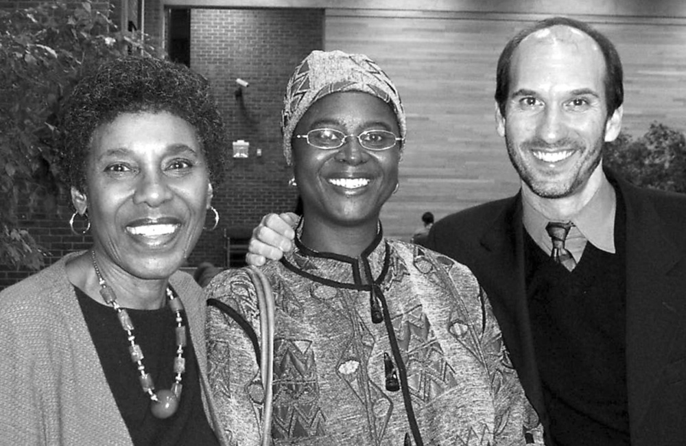With Paule Marshall--whose  Browngirls, Brownstones  was one of the first novels I read in Pattie Cowell's American Lit course at Colorado State--and Abena Busia.