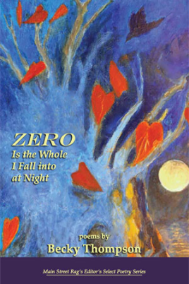 Becky Thompson, whom I first worked with in October of 2010, revised her manuscript into  Zero is the (W)hole I Fall into at Night  and was published in 2011 and won the Main Street Rag Poetry Prize.