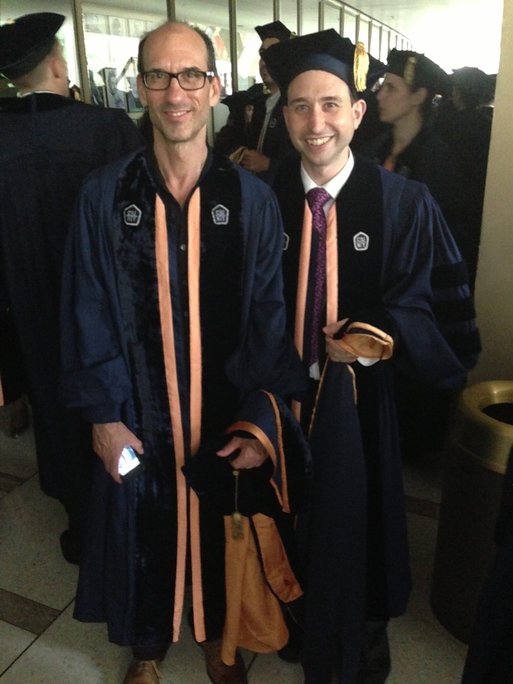 With Jason Schneiderman at our graduation from the Graduate Center, May 2013, Lincoln Center.