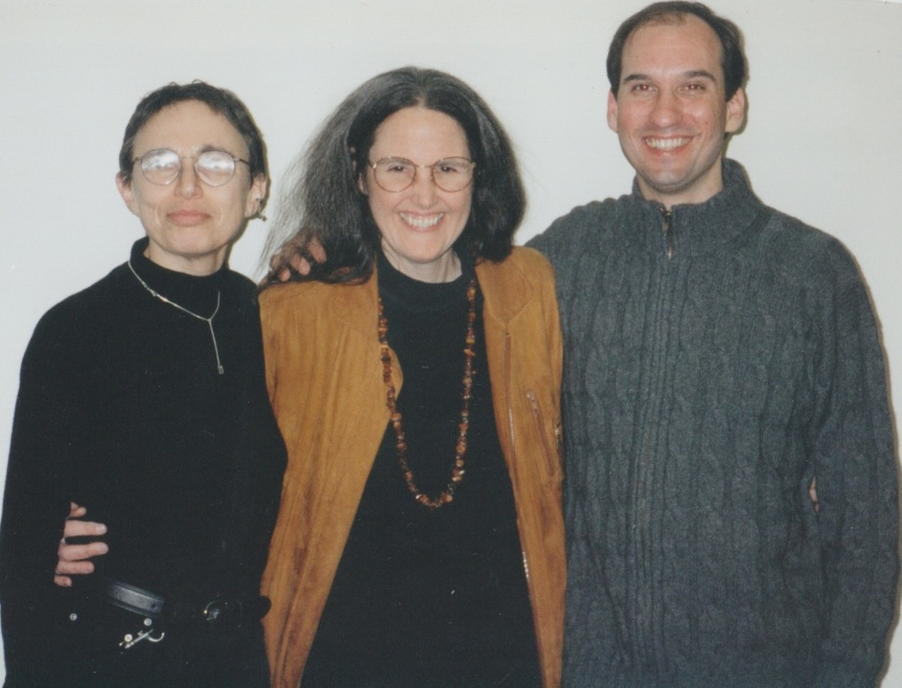 With Marilyn Hacker, judge of the 1997 Wick Poetry Prize, and Maggie Anderson, then-Director of the Wick Poetry Center (1998)