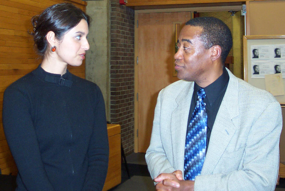 Jhumpa Lahiri and Wesley Brown