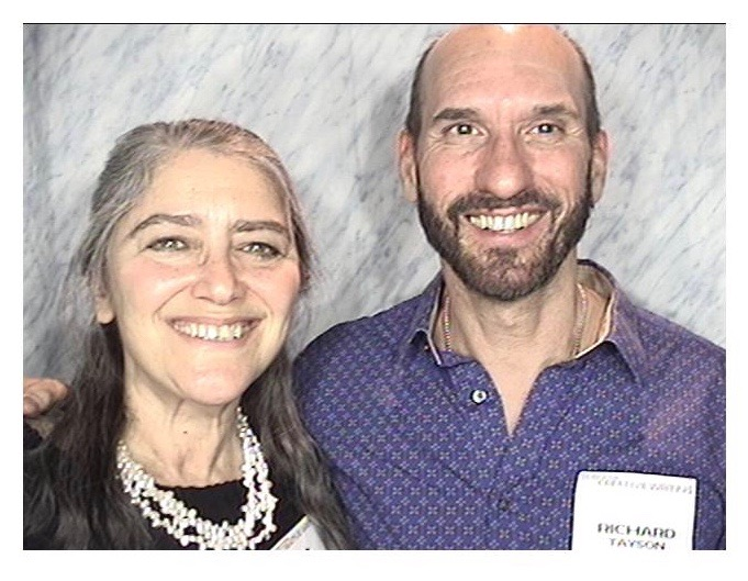 with Alice Cohen at a New School University celebration of faculty and alumni publications, February 19, 2016.  Alice's memoir, The Year My Mother Came Back, was published in 2015.