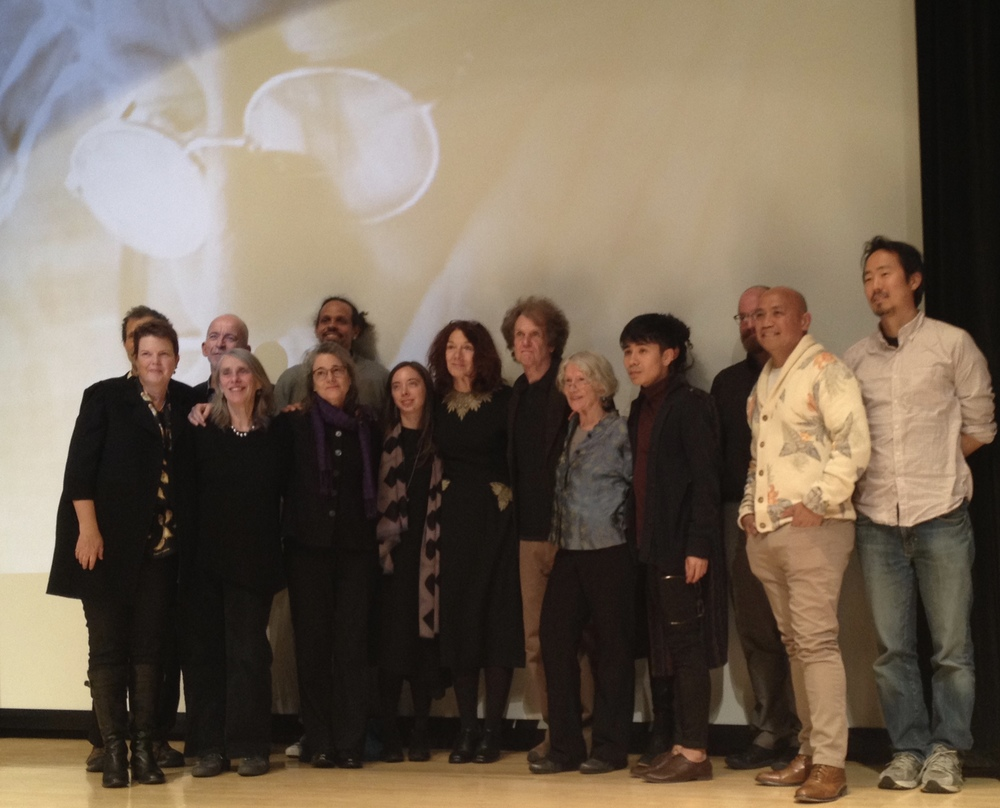April 5, 2014, Jean Valentine Tribute:  front row, l. to r.:  Anne Marie Macari, Joan Larkin, Elizabeth Metzger, Jane Mead, Mary Ruefle, Michael Burkard, Jean Valentine, Ocean Vuong, Patrick Rosal, Jeffrey Yang. back row, l. to r.:  D. Nurkse, Mark Doty, Ross Gay, Brian Teare.