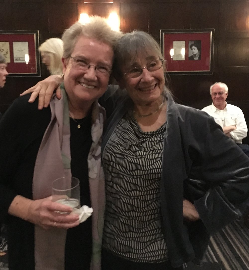 Alicia Ostriker and Martha Nell Smith—a former student of Alicia's and the co-editor of  Everywoman Her Own Theology: On the Poetry of Alicia Ostriker— celebrating at the Algoniquin.