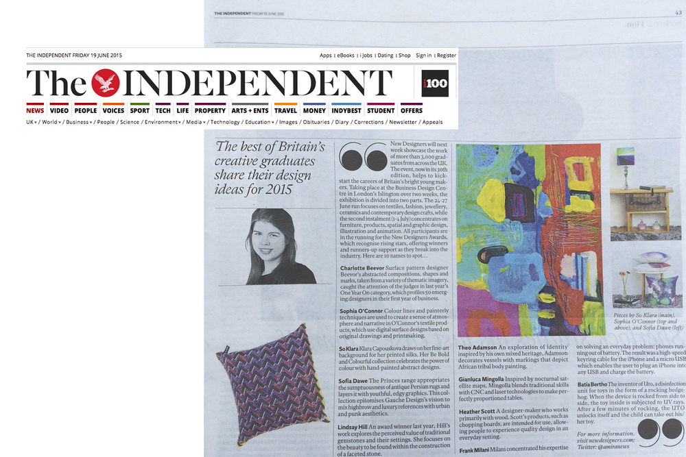 SO KLARA in The Independent.