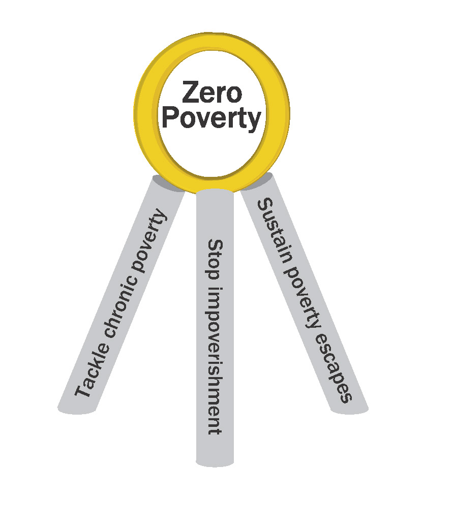 Figure 1: The zero poverty tripod