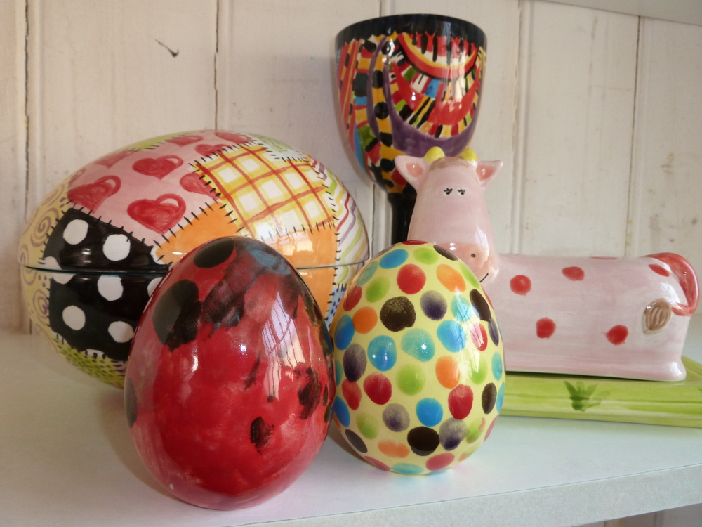 A selection of pottery painted at our After School Club