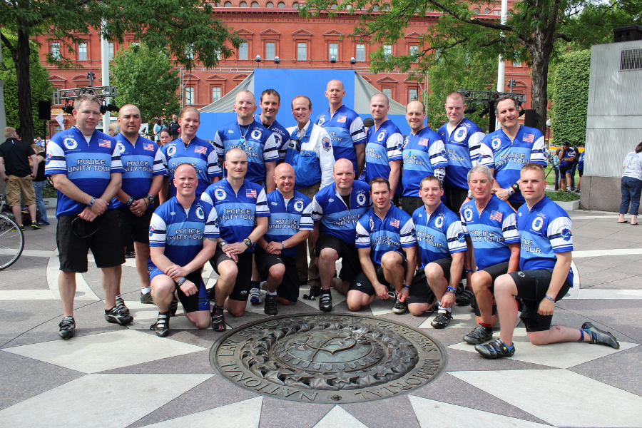 2012 Riders at the National Law Enforcement Officers Memorial with NLEOM CEO Craig Floyd (Click picture to view 2012 Ride Pictures)