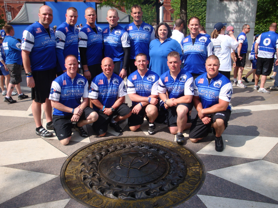 2011 Riders at the National Law Enforcement Officers Memorial (Click picture to view 2011 Ride Pictures)