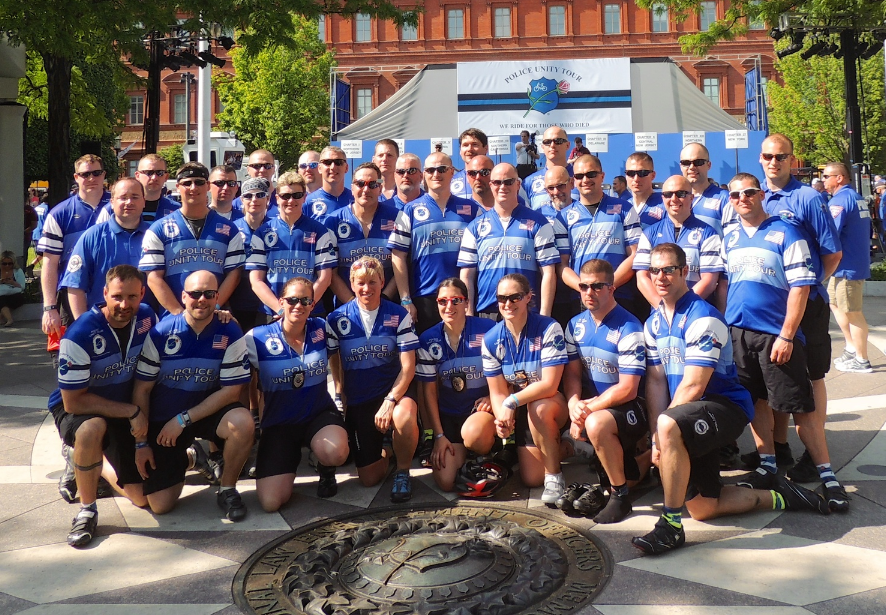 2014 Riders at the National Law Enforcement Officers Memorial (Click picture to view 2014 Ride Pictures)