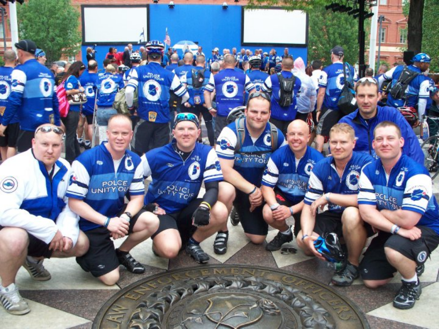 2010 Riders at the National Law Enforcement Officers Memorial (Click picture to view 2010 Ride Pictures)