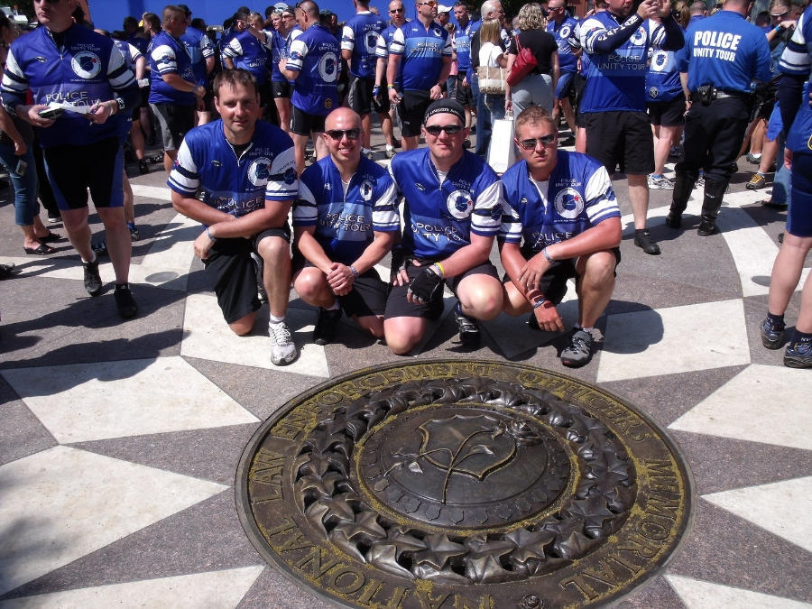 2009 Riders at the National Law Enforcement Officers Memorial (Click picture to view 2009 Ride Pictures)
