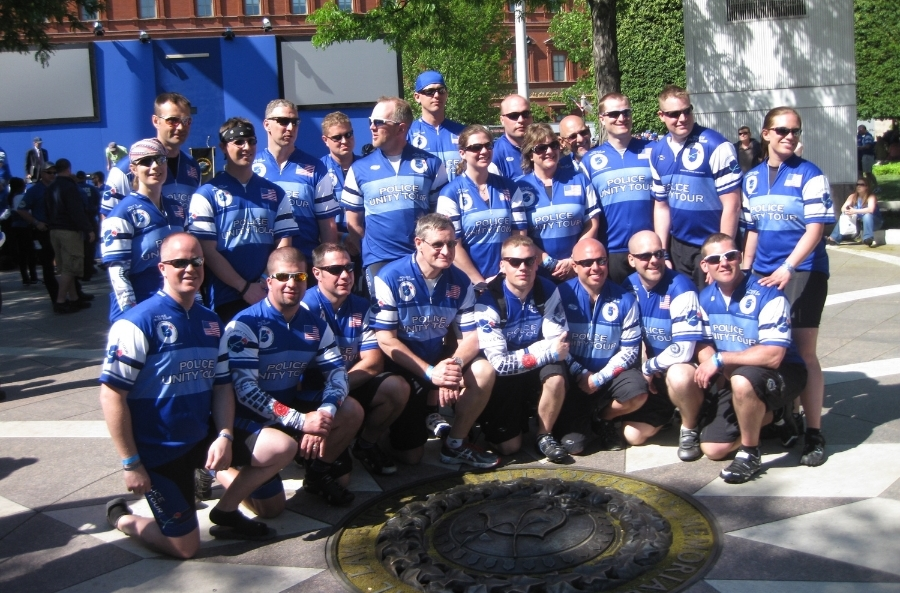 2013 Riders at  the National Law Enforcement Officers Memorial (Click picture to view 2013 Ride Pictures)