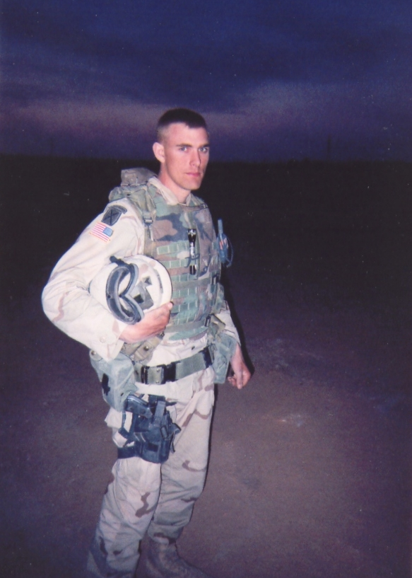 Craig, March 2003, after his unit just entered Iraq from Kuwait at the start of the war.