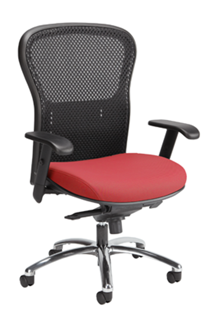 The Abby series is a contemporary executive seating collection that incorporates a stylish mesh back and elegant frame. The Abby series incorporates a variety of ergonomic features including a lumber support that is adjustable to suit each users needs.