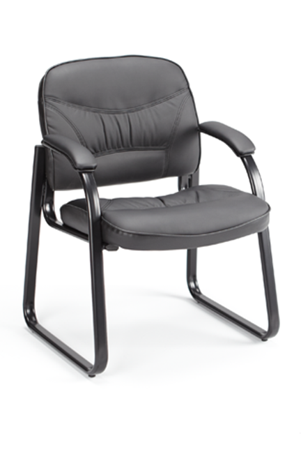 A new classic for the modern workplace. The Ava guest chair features integrated loop arms, elegant stitching details, and superior leather upholstery. A perfect option to give a sophisticated executive feel to any office.