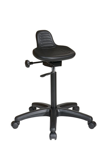 Saddle Seat Stool with Seat Angle Adjustment