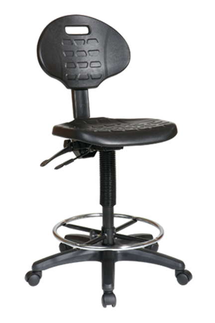 Intermediate Ergonomic Drafting Chair with Adjustable Footrest