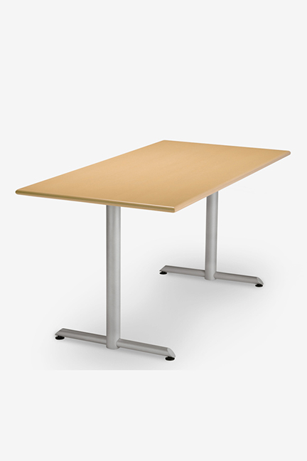 The T base offers the ultimate in flexibility, from general purpose use to the cafeteria to classroom and training rooms. Simply specify a basic freestanding  table with glides or add options such as flip top mechanism, folding base, modesty panels, casters and power and communication for a dynamic training environment.